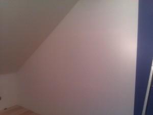 Die fertige Wand