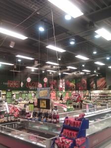 Nebelanlage im Supermarkt