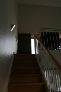 Der Aufgang zum Wohnzimmer