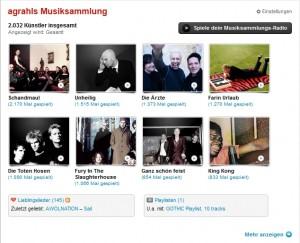 Last.fm - Meine Musiksammlung