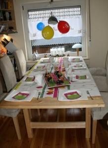 Mein erster Geburtstag - Esszimmertisch