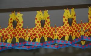 Mein erster Geburtstag - Giraffengirlande