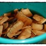 Hickory Chips ... und sie ziehen ein ...