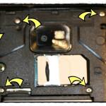 die zu entfernenden Schrauben